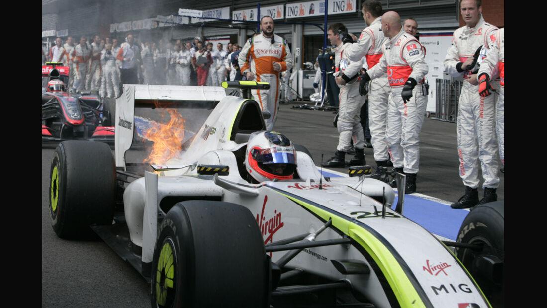 Barrichello - Feuer am Brawn