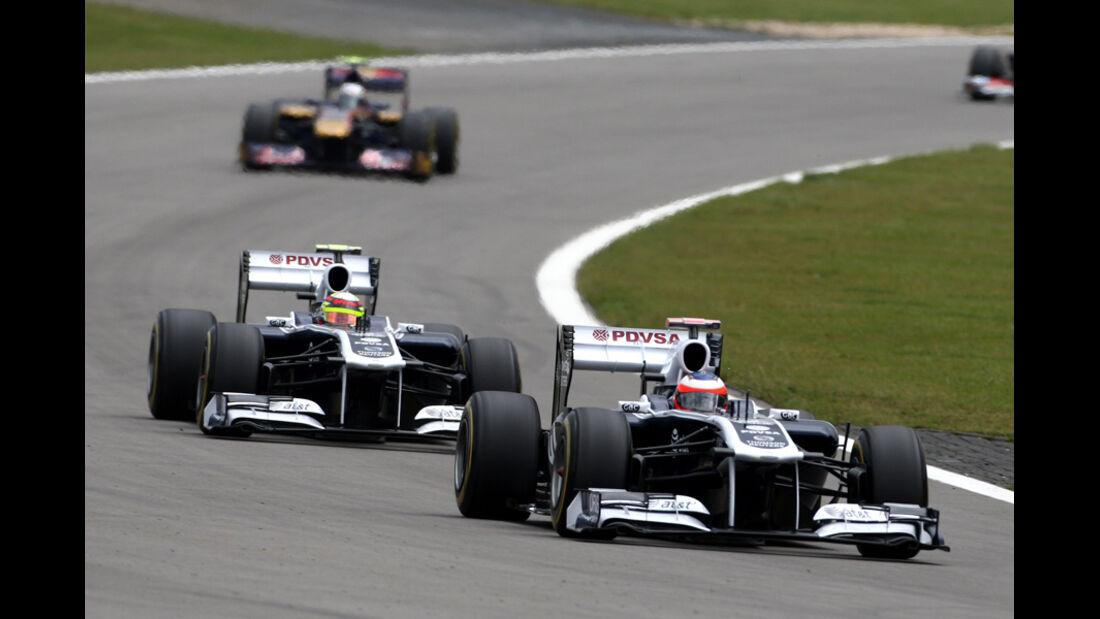Barrichello Maldonado Williams GP Deutschland 2011
