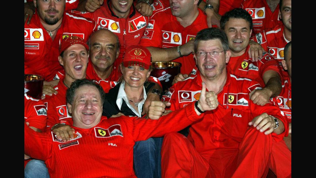 Barrichello Schumacher 2003 GP Japan