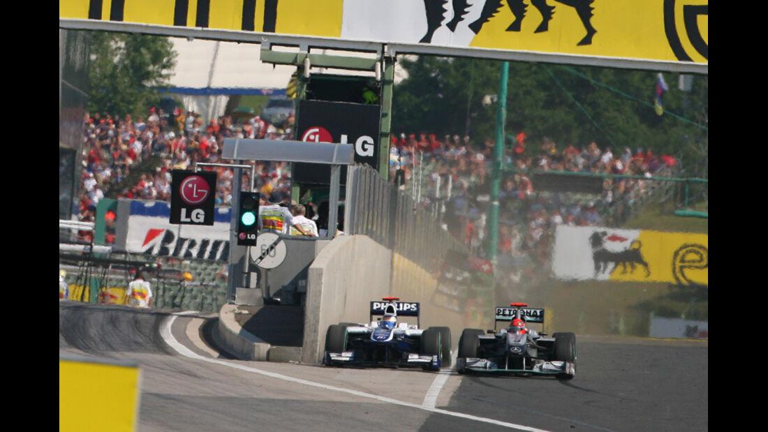 Barrichello Schumacher GP Ungarn