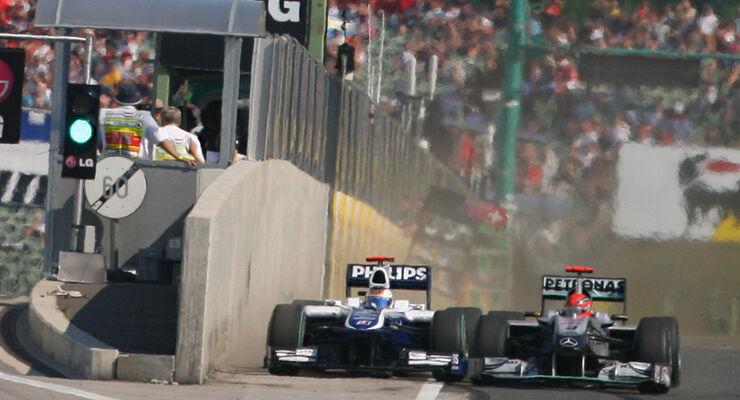 Barrichello und Schumacher