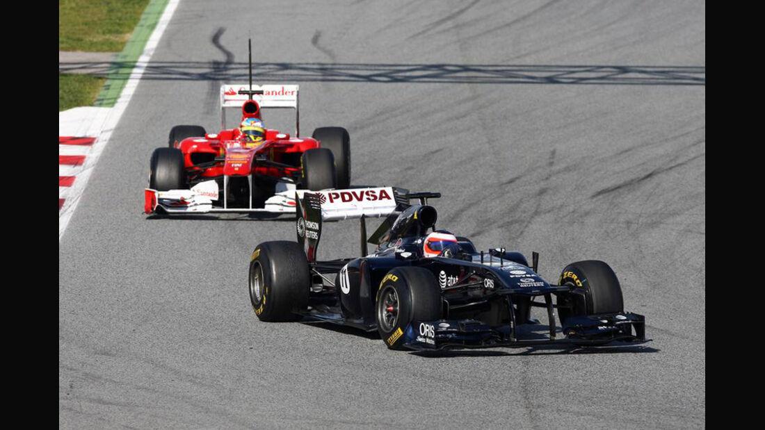 Barrichello vs. Alonso