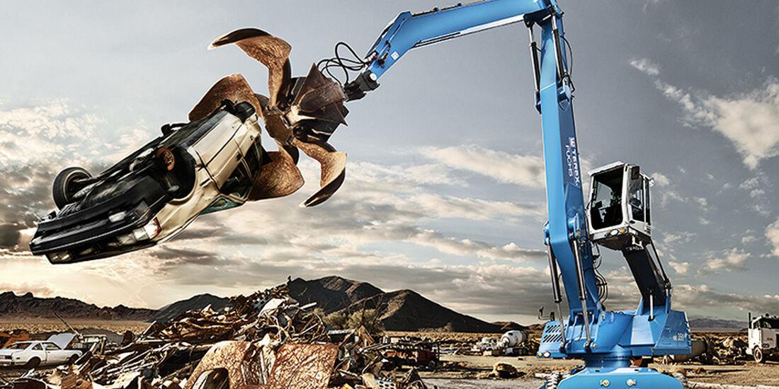 Baumaschinen-Kalender, Heavy Equipment-Kalender 2011, Terex Fuchs MHL 350 Materialumschlaggerät