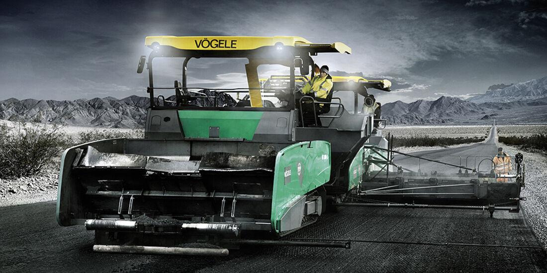 Baumaschinen-Kalender, Heavy Equipment-Kalender 2011, Vögele MT 3000-2 Materialbeschicker & Super 3000-2 Straßenfertiger