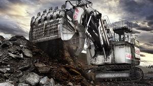 Baumaschinen, Terex O&K Miningbagger RH200