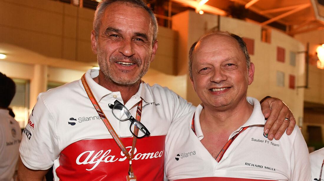 Beat Zehnder & Frederic Vasseur - Formel 1 - GP Bahrain 2018