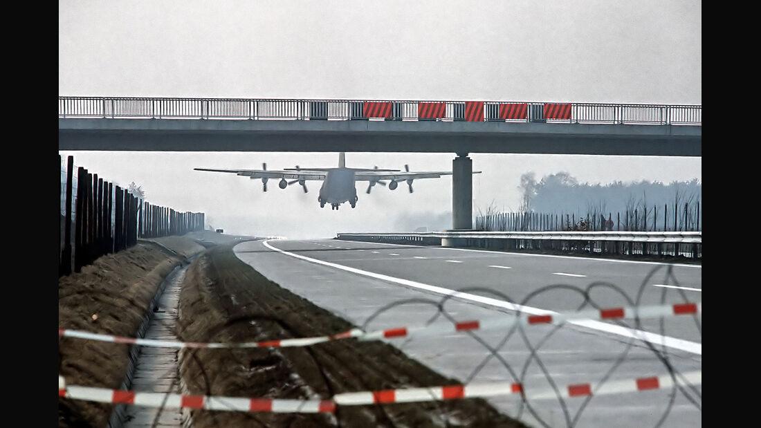 Behelfslandeplatz Autobahn