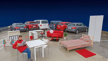Beladungstest, Möbel, Autos