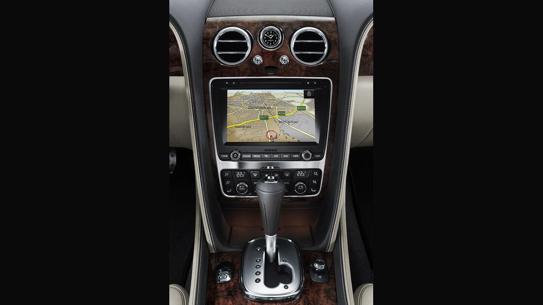 Benley Continental GT, 2011, Navigationsgerät, Touchscreen, Schalthebel