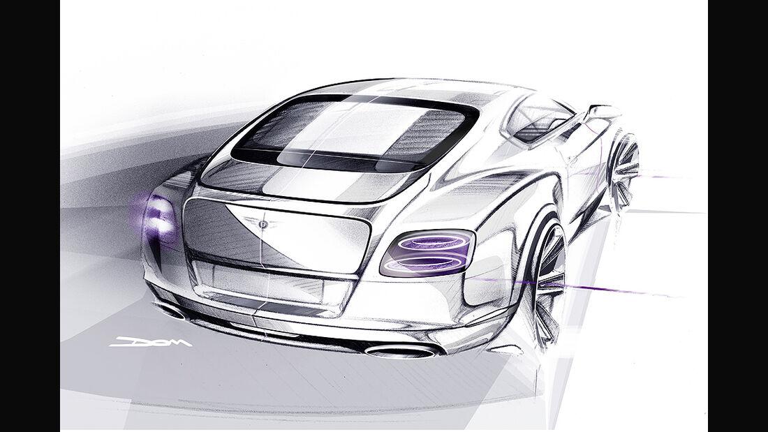 Benley Continental GT, 2011, Zeichnung, Sketch