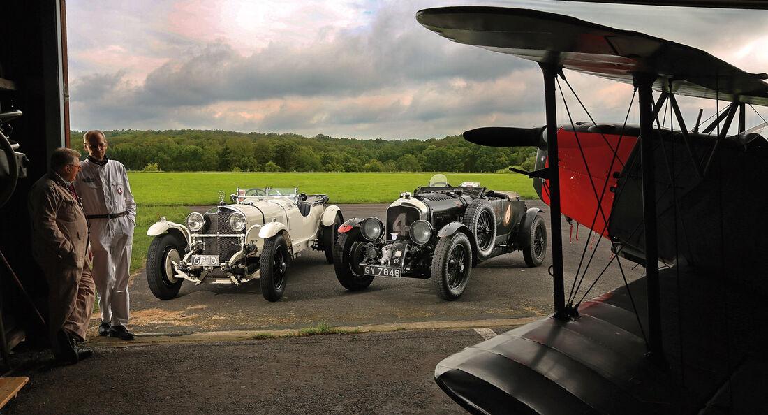 Bentley 4,5 Litre Blower, Mercedes 27/180/250 Typ 710 SS, Doppeldecker