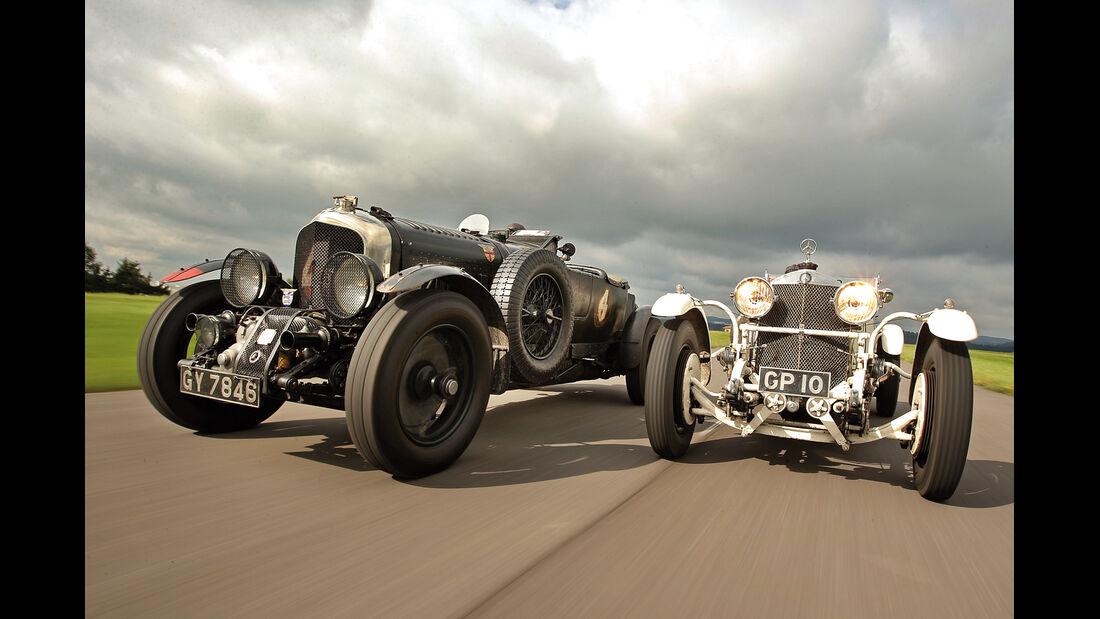 Bentley 4,5 Litre Blower, Mercedes 27/180/250 Typ 710 SS, Frontansicht