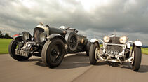 Bentley 4,5 Litre Blower, Mercedes 27/180/250 Typ 710 SS, Frontansicht