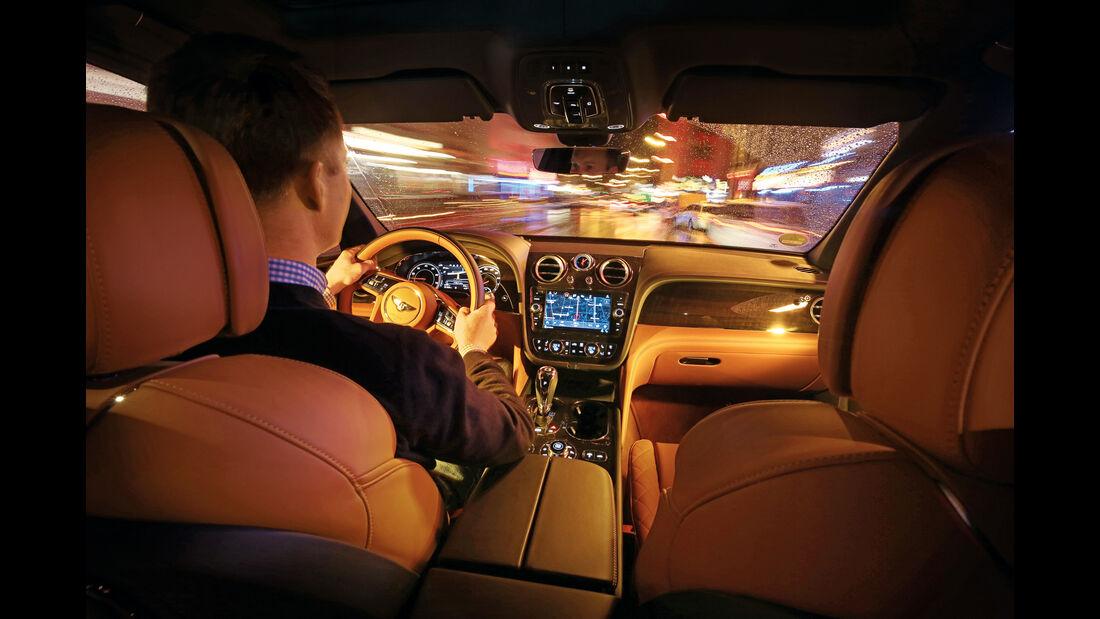Bentley Bentayga, Innenraum, Fahrersicht