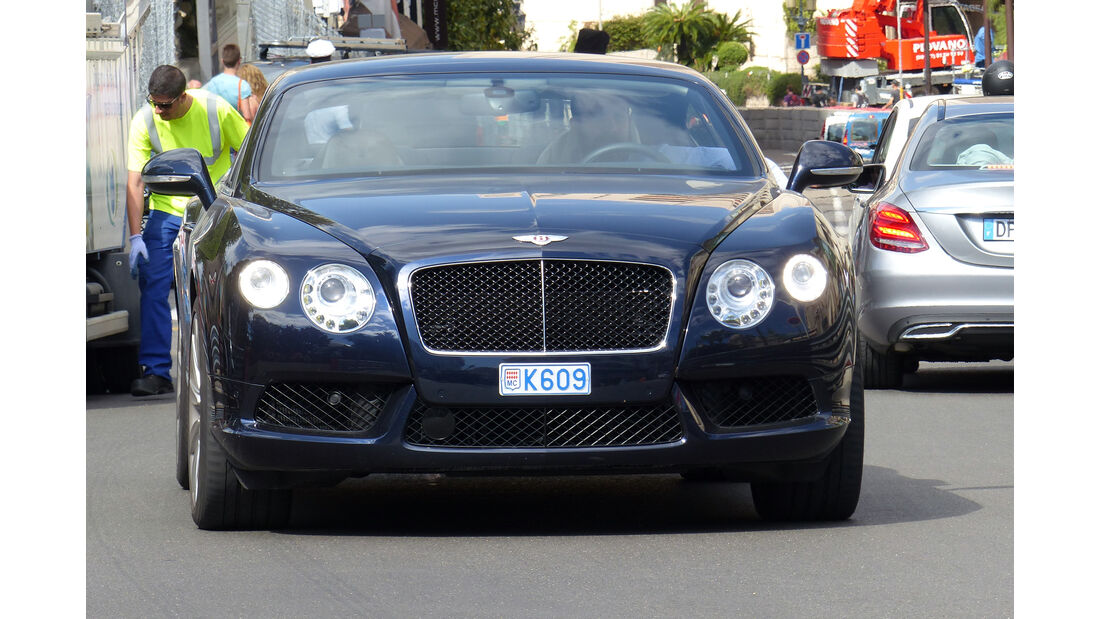 Bentley Continental -  Carspotting - Formel 1 - GP Monaco 2015