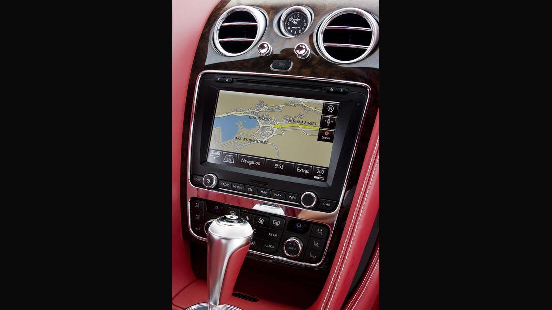Bentley Continental GT, Detail, Navigationssystem, Mittelkonsole