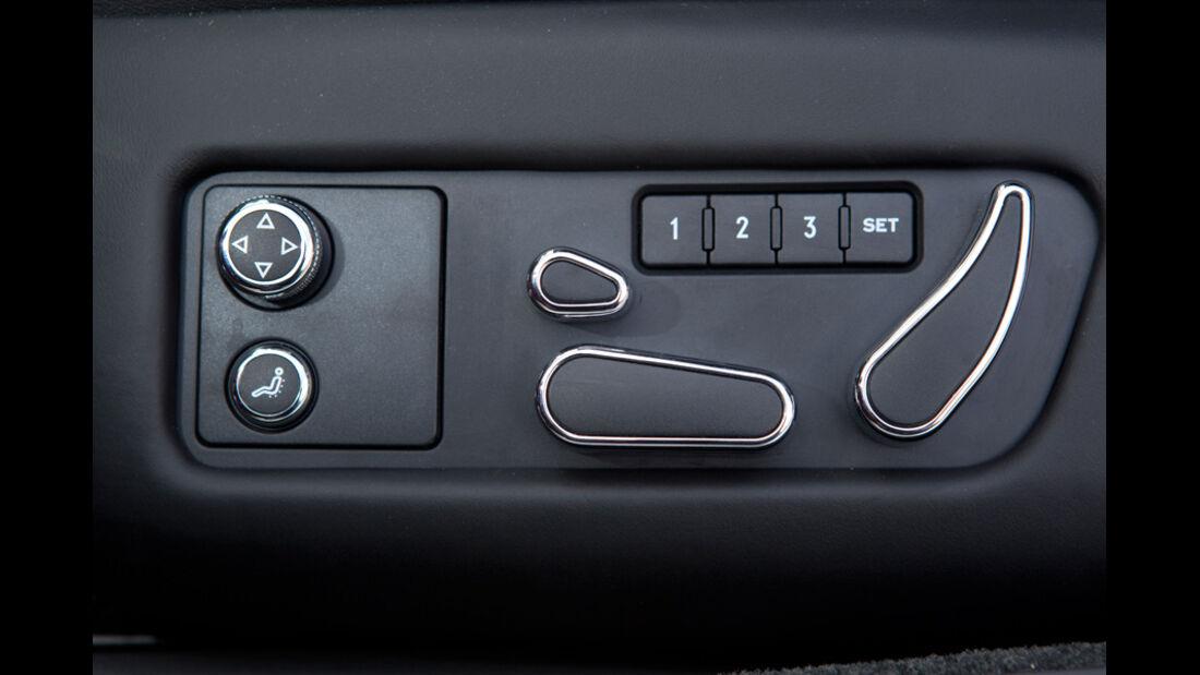 Bentley Continental GT, Detail, Schaltknöpfe
