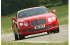 Bentley Continental GT, Frontansicht, Kurvenfahrt