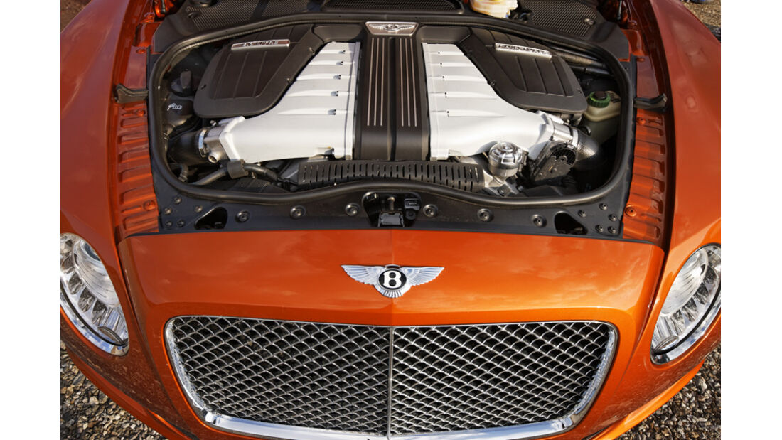 Bentley Continental GT, Motorraum