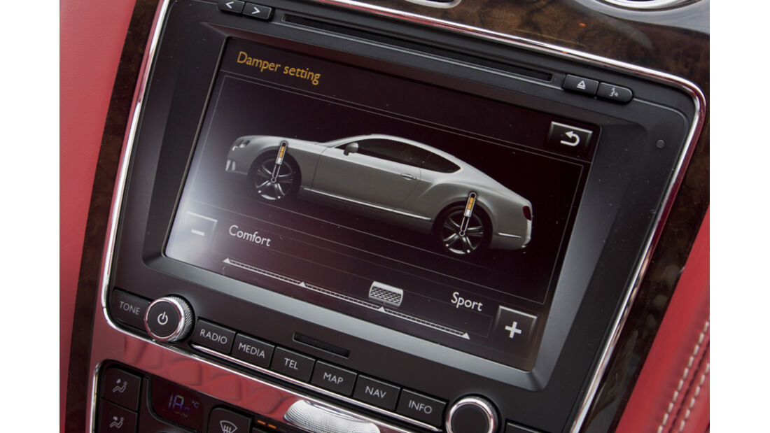 Bentley Continental GT, Navigationssystem, Detail