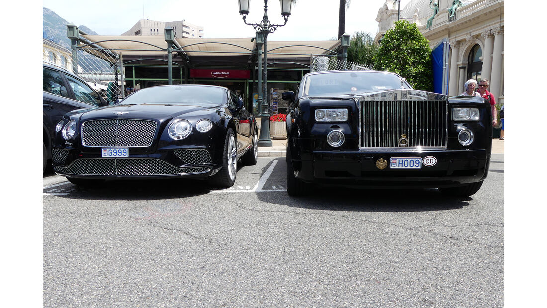 Bentley Continental GT & Rolls Royce Phantom - Carspotting - GP Monaco 2017