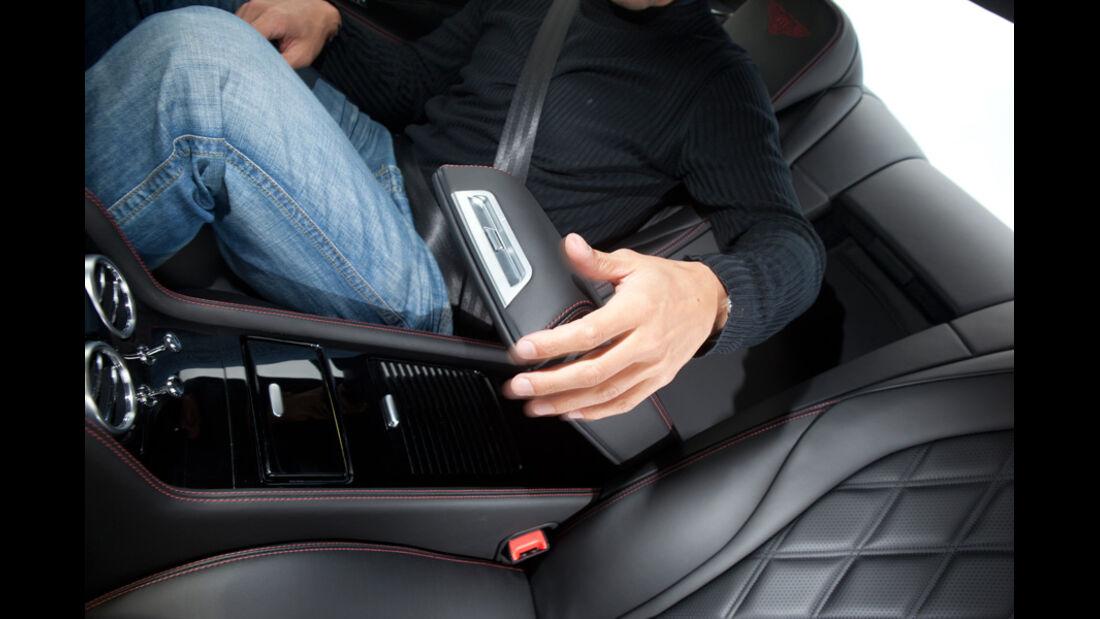 Bentley Continental GT, Rücksitz, Ablage, Stauraum