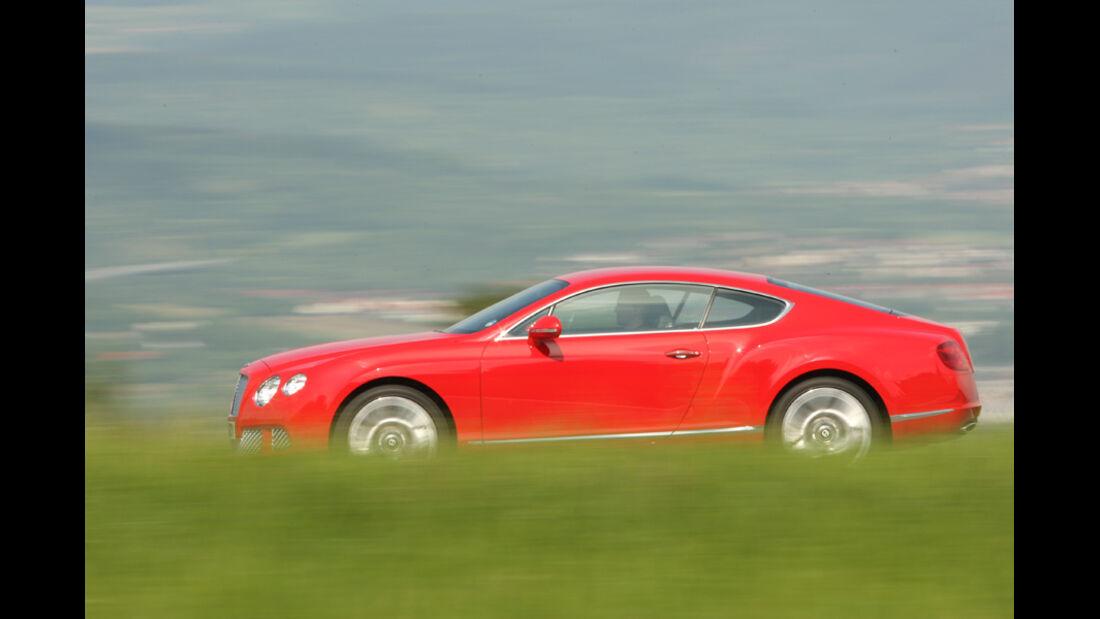 Bentley Continental GT, Seitenansicht, Fahrt, Landschaft