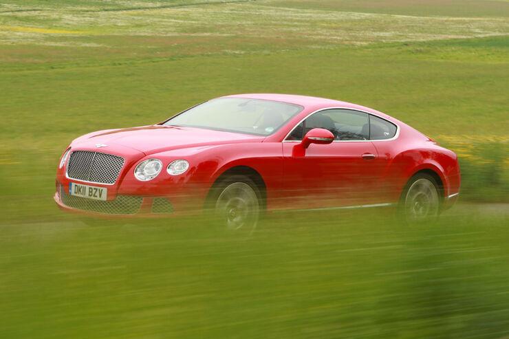 Bentley Continental GT, Seitenansicht, Fahrt