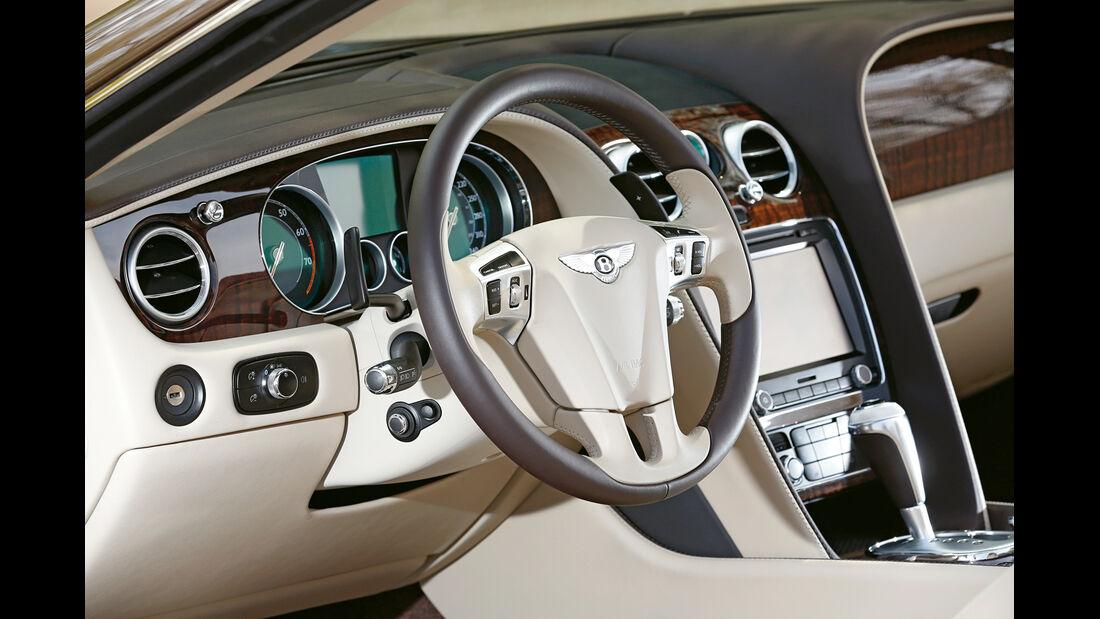 Bentley Continental GT Speed W12 Convertible, Cockpit, Lenkrad