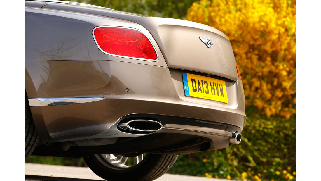 Bentley Continental GT Speed W12 Convertible, Heck, Auspuff