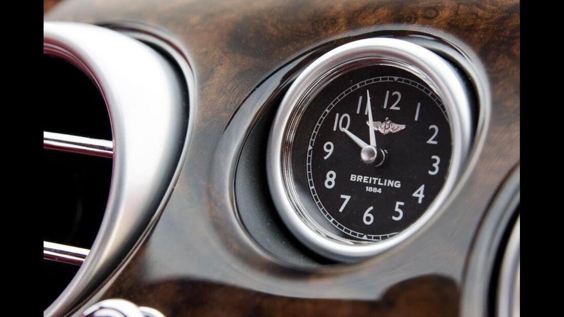 Bentley Continental GT, Uhr, Detail