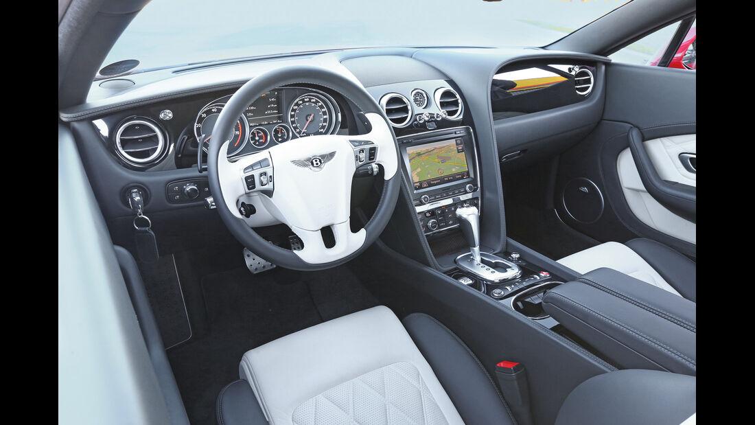 Bentley Continental GT V8, Cockpit, Lenkrad