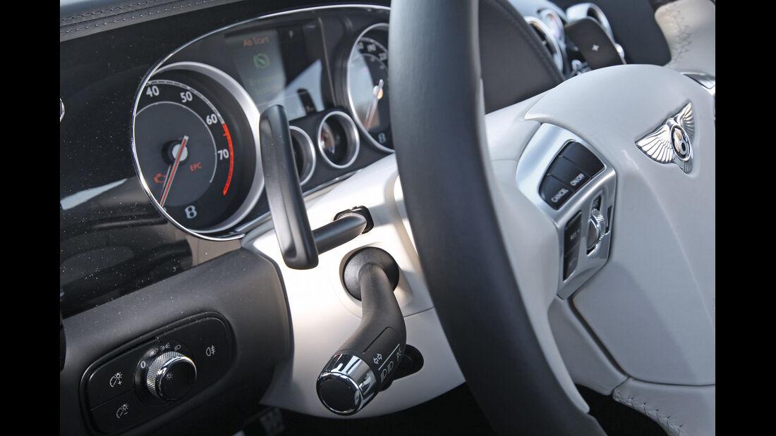 Bentley Continental GT V8, Rundinstrumente, Lenkrad