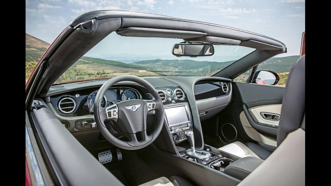 Bentley Continental GT V8 S Cabrio, Cockpit, Lenkrad