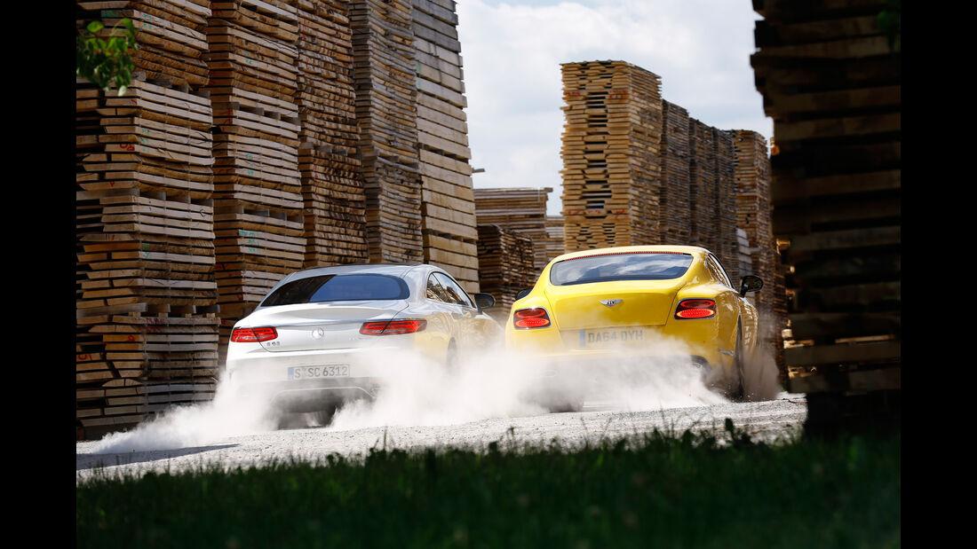 Bentley Continental GT V8 S, Mercedes S 63 AMG 4Matic Coupé