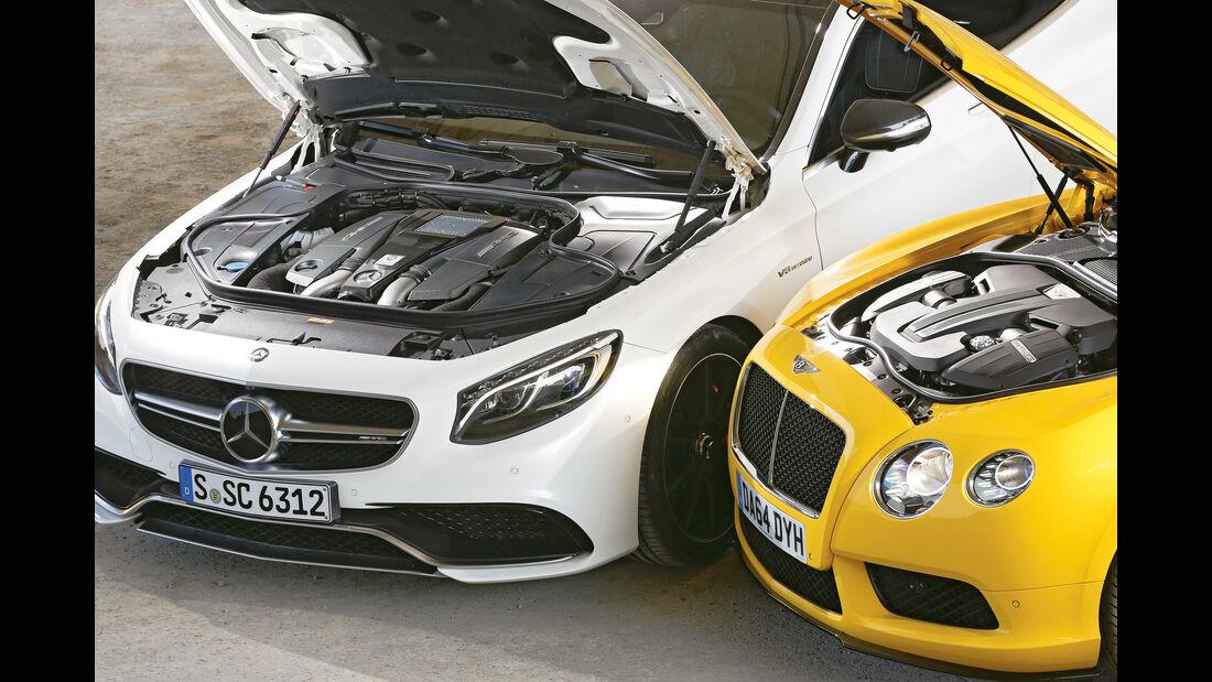 Bentley Continental GT V8 S, Mercedes S 63 AMG 4Matic Coupé, Motoren