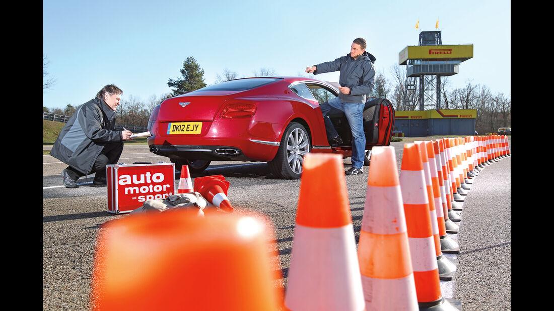 Bentley Continental GT V8, Wiegen, Messen, Heck