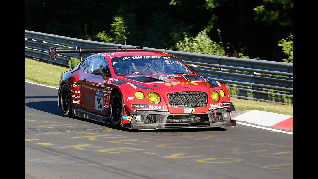 Bentley Continental GT3 - Bentley Team Abt - Startnummer #36 - Top-30-Qualifying - 24h-Rennen Nürburgring 2017 - Nordschleife