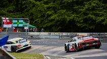 Bentley Continental GT3 - Startnummer #11 - Audi R8 LMS - Startnummer #4 - 24h-Rennen Nürburgring 2015 - Donnerstag - 14.5.2015