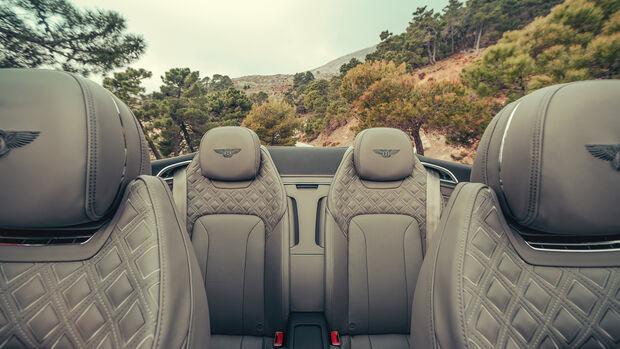 Bentley Continental GTC 2019, Innenraum, Sitze, Fond