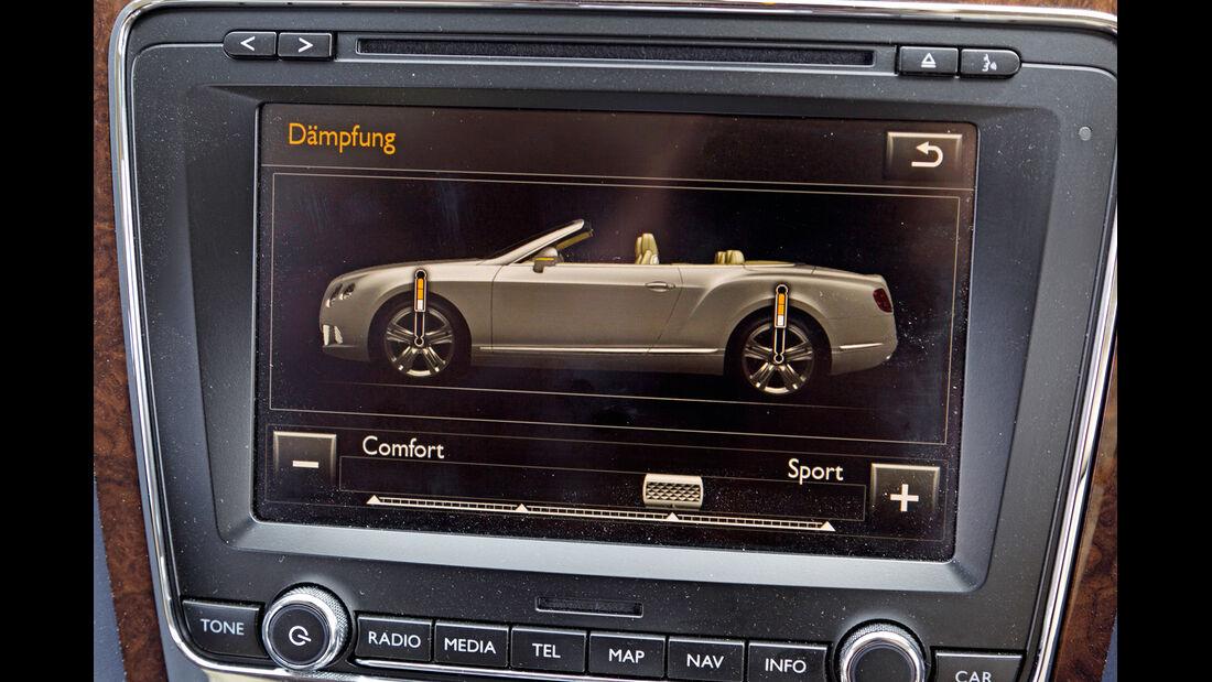 Bentley Continental GTC, Bildschirm, Dämpfung