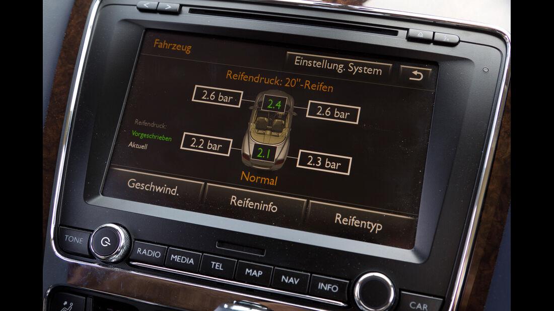 Bentley Continental GTC, Navi, Bildschirm