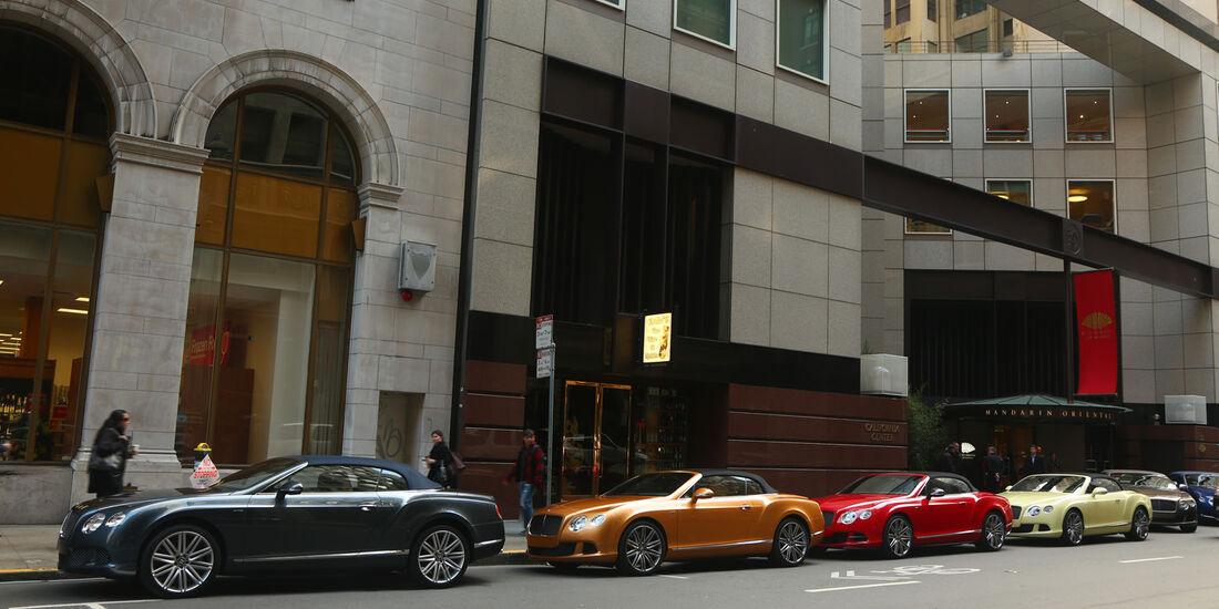 Bentley Continental GTC Speed, mehrer Fahrzeuge, Seitenansicht