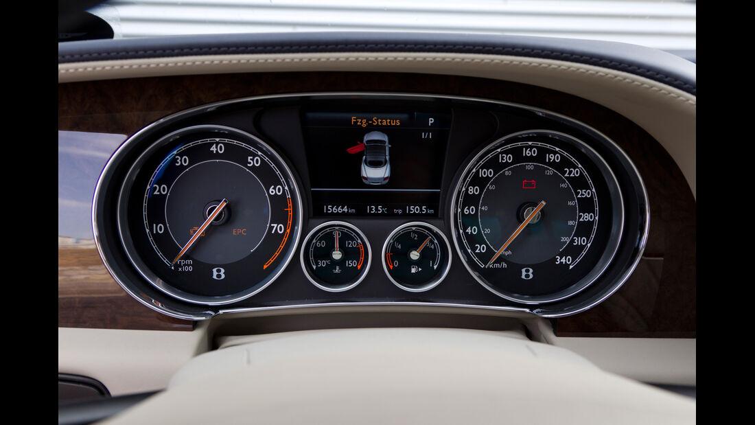 Bentley Continental GTC, Tacho, Rundinstrumente