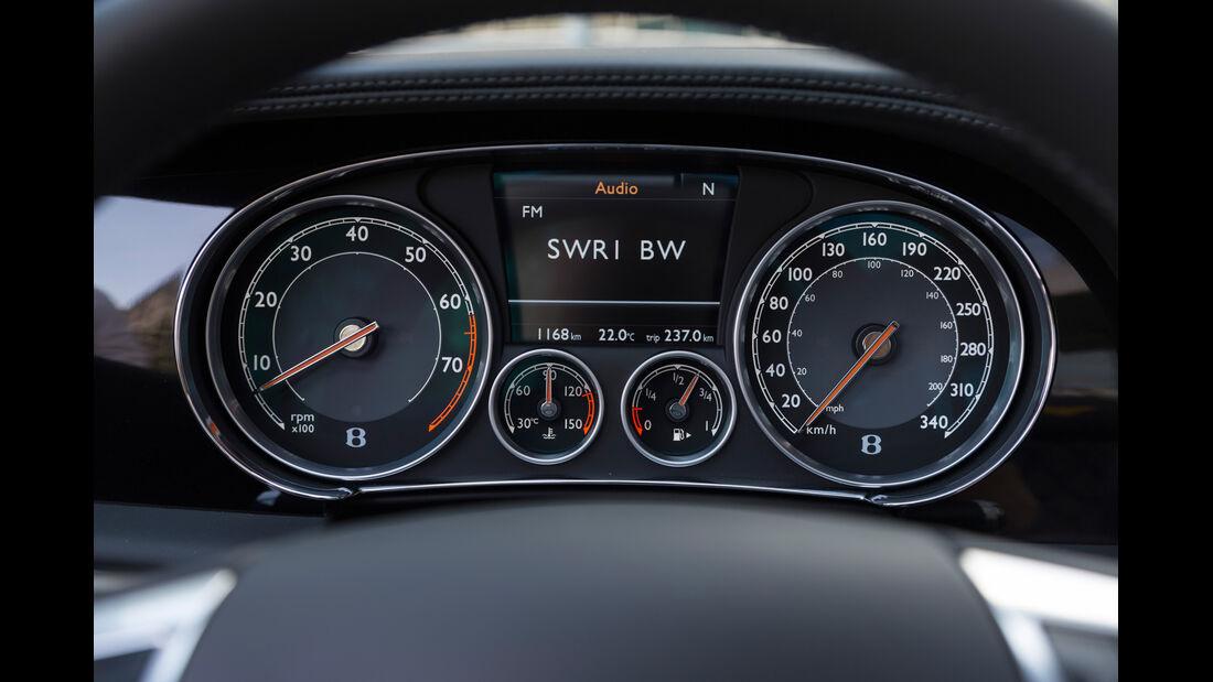 Bentley Continental GTC V8, Rundinstrumente