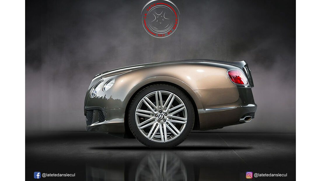 Bentley Continental Retusche