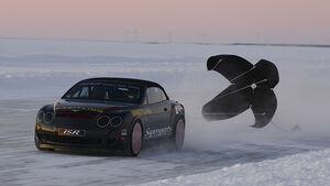Bentley Continental Supersports Convertible Geschwindigkeitsweltrekord auf Eis