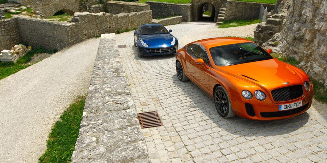 Bentley Continental Supersports, Ferrari FF, Front, Frontansicht