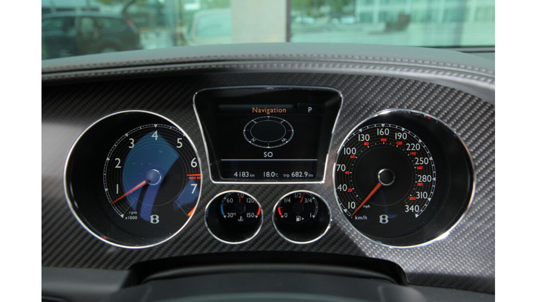 Bentley Continental Supersports, Schriftzug, Sitz