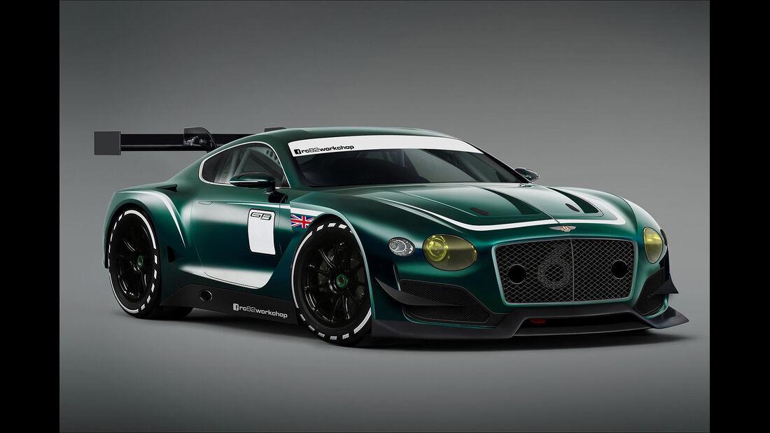 Bentley EXP 10 Speed 6 GT3 Concept - Photoshop